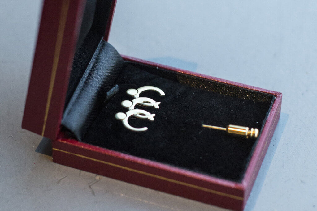 BCCM Hall of Fame Inductees received a handcrafted BCCM pin.