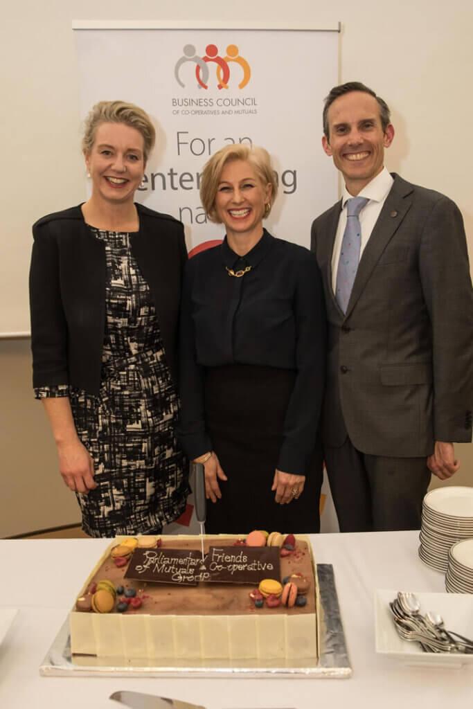 Senator Bridget McKenzie, Melina Morrison and DrAndrew Leigh