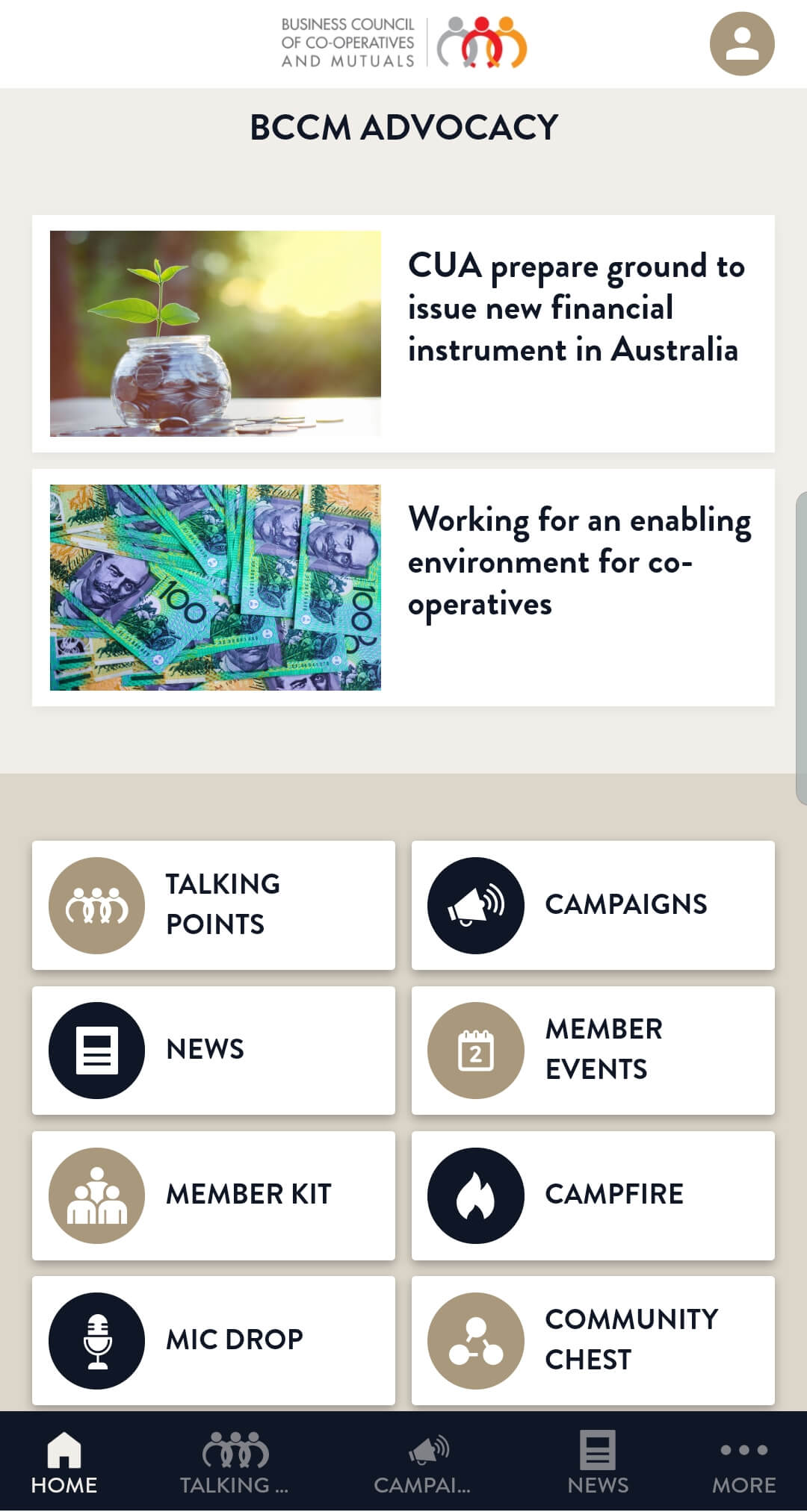 BCCM Advocacy App screen grab