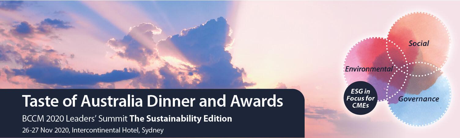 Taste of Australia Industry Dinner and Awards banner