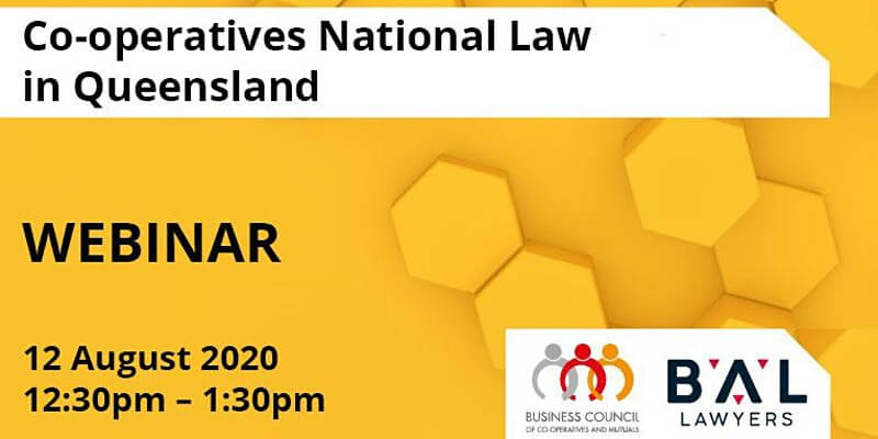 Co-operatives National Law in Queensland webinar