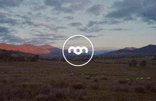 Australian landscape with BCCM icon overlaid